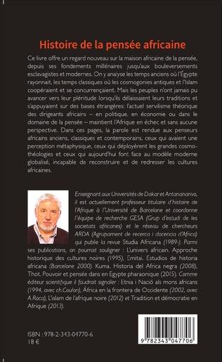 4eme Histoire de la pensée africaine