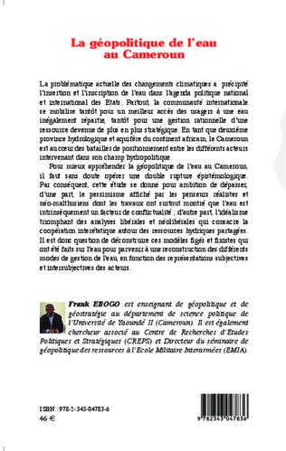 4eme La géopolitique de l'eau au Cameroun