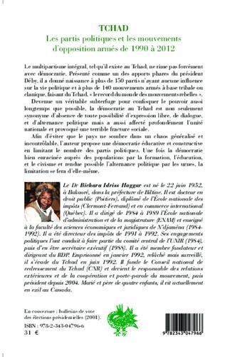 4eme Tchad les partis politiques et les mouvements d'opposition armés de 1990 à 2012