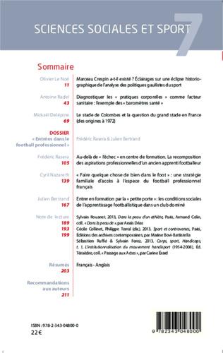 4eme Sciences Sociales et Sport n° 7