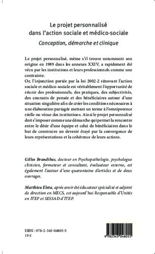 4eme Le projet personnalisé dans l'action sociale et médico-sociale