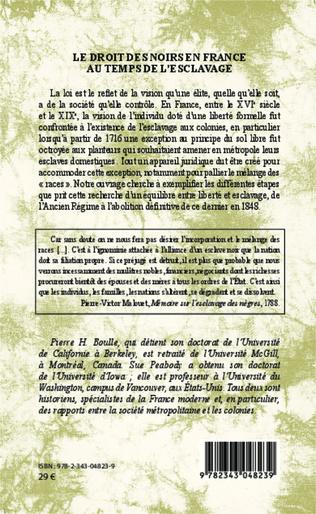 4eme Le droit des Noirs en France au temps de l'esclavage