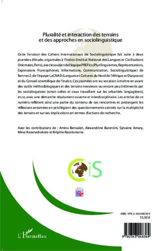 4eme Cahiers Internationaux de Sociolinguistique