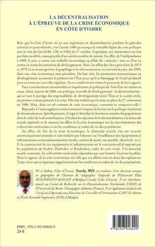 4eme La décentralisation à l'épreuve de la crise économique en Côte d'Ivoire
