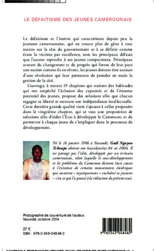 4eme Le défaitisme des jeunes camerounais
