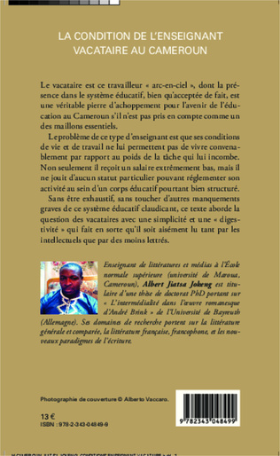 4eme La condition de l'enseignant vacataire au Cameroun