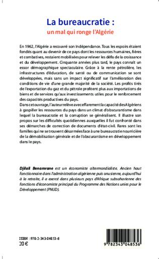 4eme La bureaucratie : un mal qui ronge l'Algérie