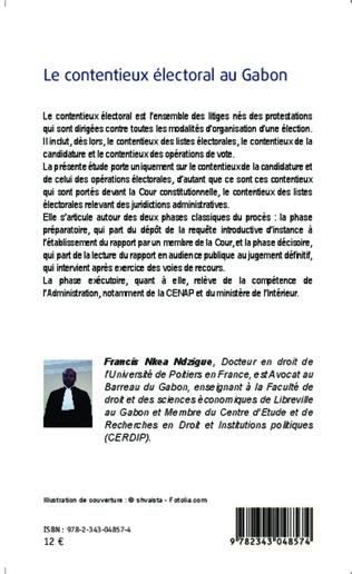 4eme Le contentieux électoral au Gabon