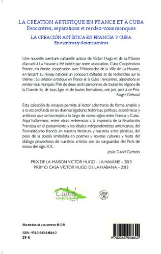 4eme La création artistique en France et à Cuba ; Rencontres, séparations et rendez-vous manqués