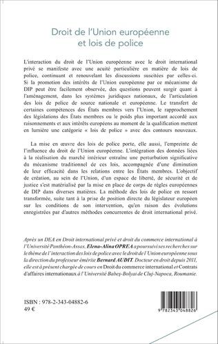 4eme Droit de l'Union européenne et lois de police