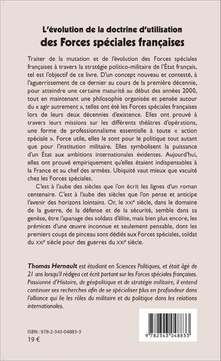4eme L'évolution de la doctrine d'utilisation des Forces spéciales françaises