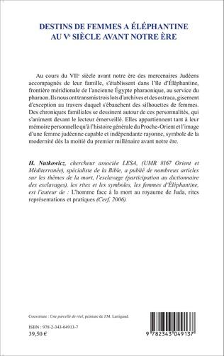 4eme Destins de femmes à Eléphantine au Vè siècle avant notre ère