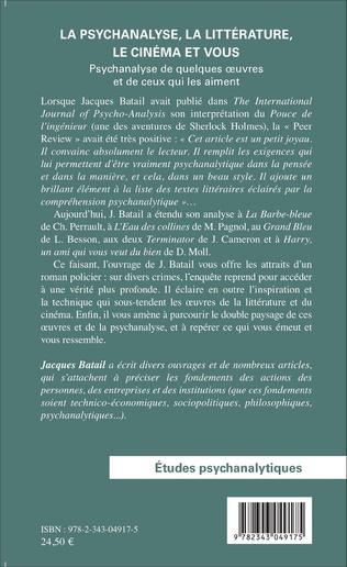 4eme La psychanalyse, la littérature, le cinéma et vous