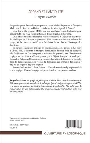 4eme Adorno et l'Antiquité