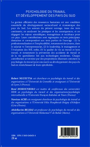 4eme Psychologie du travail et développement des pays du sud