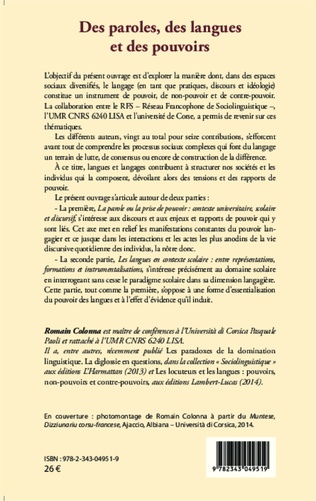 4eme MISCONSTRUCTIONS IN THE EDUCATION OF LANGUAGE MINORITIZED STUDENTS : LESSONS FOR A MULTILINGUAL FRANCOPHONE WORLD