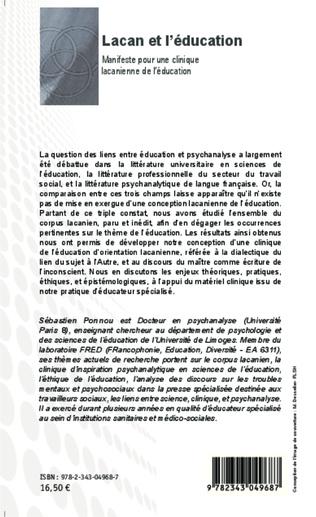 4eme Lacan et l'éducation