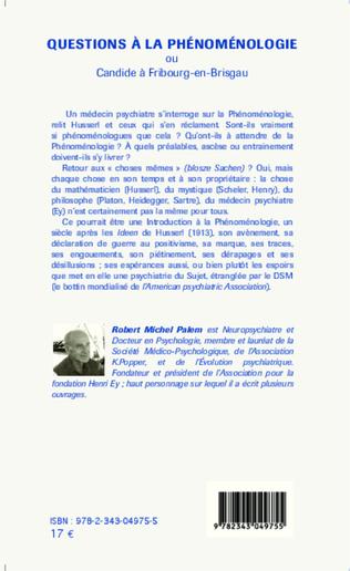 4eme Questions à la phénoménologie