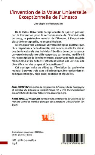 4eme L'invention de la Valeur Universelle Exceptionnelle de l'Unesco