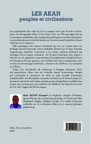 4eme Les Akan peuples et civilisations