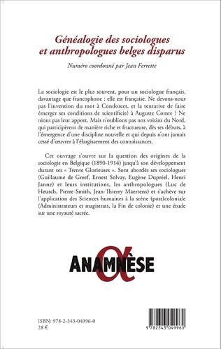 4eme Généalogie des sociologues et anthropologues belges disparus
