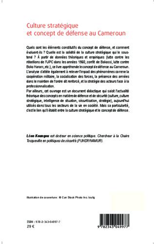 4eme Culture stratégique et concept de défense au Cameroun