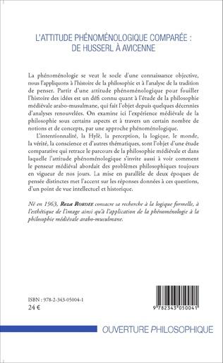 4eme L'attitude phénoménologique comparée : de Husserl à Avicenne