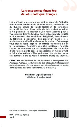 4eme La transparence financière des élus politiques français
