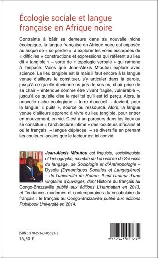 4eme Ecologie sociale et langue française en Afrique noire