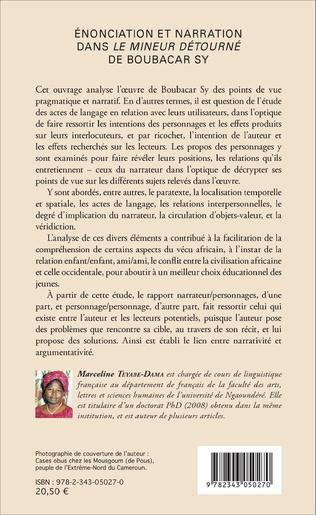 4eme Énonciation et narration dans <em>Le mineur</em> détourné de Boubacar Sy