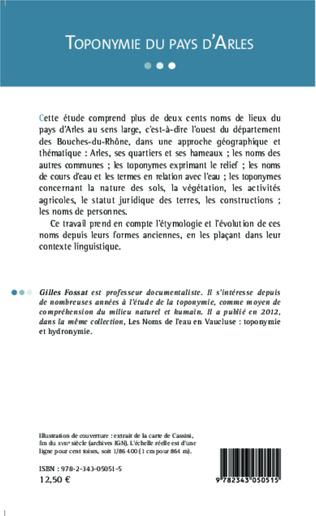 4eme Toponymie du pays d'Arles