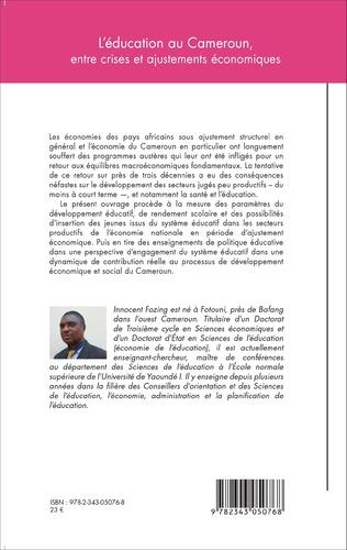 4eme L'éducation au Cameroun, entre crises et ajustements économiques