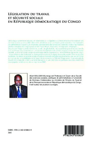 4eme Législation du travail et sécurité sociale en République Démocratique du Congo