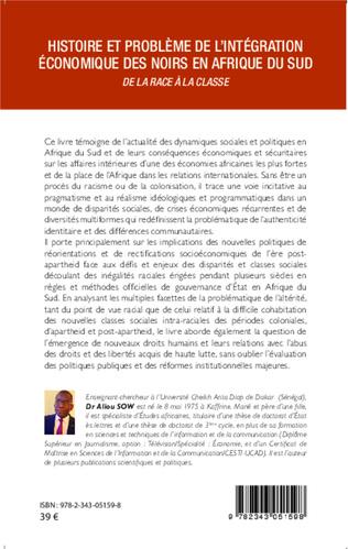 4eme Histoire et problème de l'intégration économique des noirs en Afrique du Sud