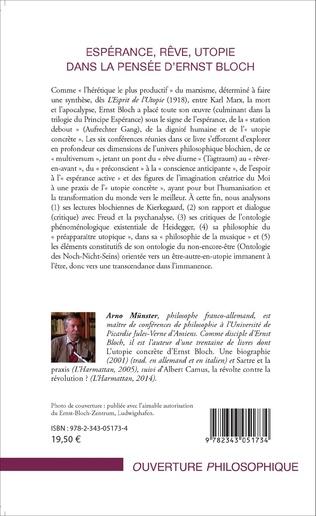 4eme Espérance, rêve, utopie dans la pensée d'Ernst Bloch