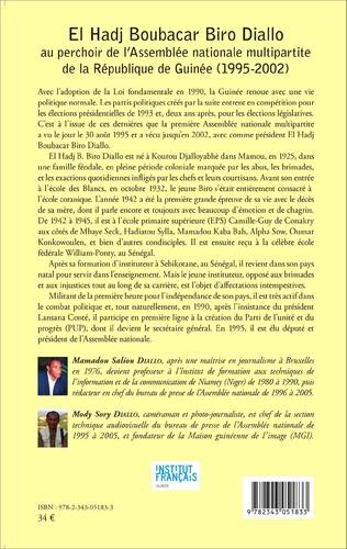 4eme El Hadj Boubacar Biro Diallo au perchoir de l'Assemblée nationale multipartite de la République de Guinée (1995-2002)