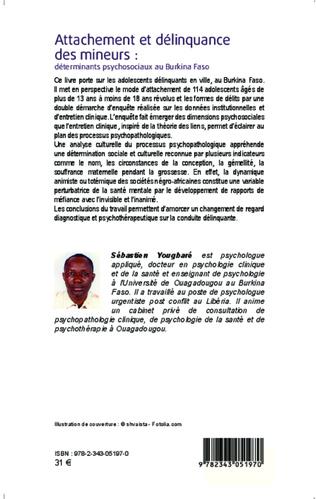 4eme Attachement et délinquance des mineurs : déterminants psychosociaux au Burkina Faso