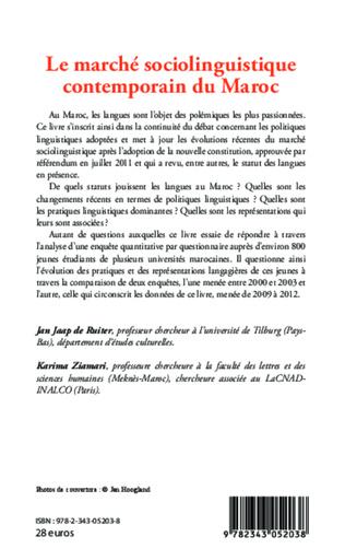 4eme Le marché sociolinguistique contemporain du Maroc