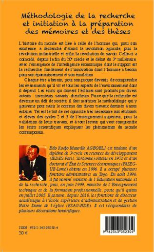 4eme Méthodologie de la recherche et initiation à la préparation des mémoires et des thèses