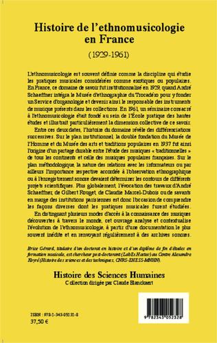 4eme Histoire de l'ethnomusicologie en France