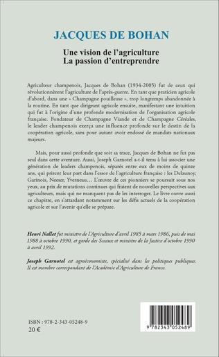 4eme Jacques De Bohan Une vision de l'agriculture