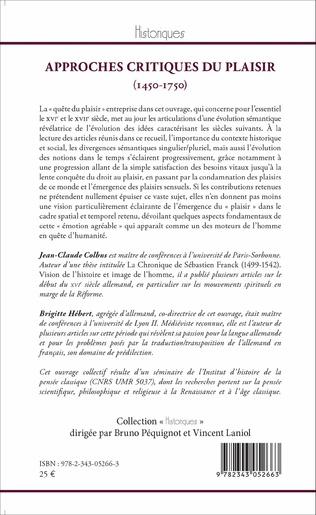 4eme Approches critiques du plaisir (1450-1750)