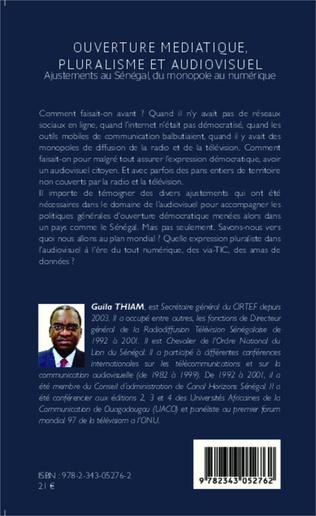 4eme Ouverture médiatique, pluralisme et audiovisuel