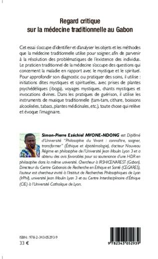 4eme Regard critique sur la médecine traditionnelle au Gabon