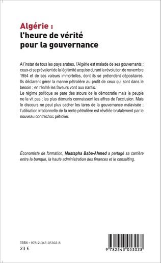 4eme Algérie : l'heure de vérité pour la gouvernance