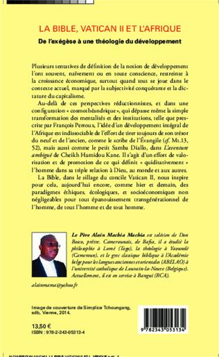 4eme La Bible, Vatican II et l'Afrique