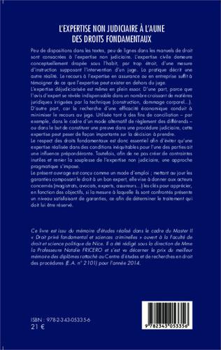 4eme L'expertise non judiciaire à l'aune des droits fondamentaux