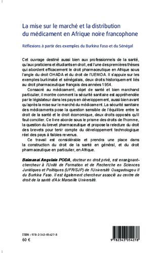 4eme La mise sur le marché et la distribution du médicament en Afrique noire francophone