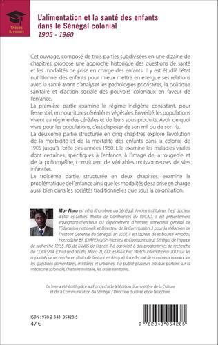 4eme L'alimentation et la santé des enfants dans le Sénégal colonial