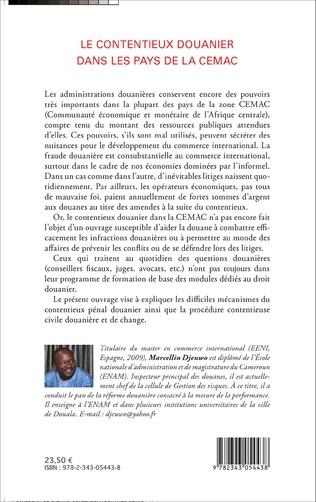 4eme Le contentieux douanier dans les pays de la CEMAC